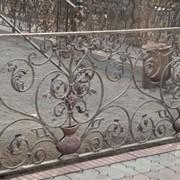 Перила металлические кованные фото