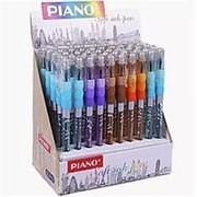 Ручка шариковая Piano РТ-272, синяя, 0.5 мм., грип, корпус пластик, цвета в ассорт., РТ-272 фото