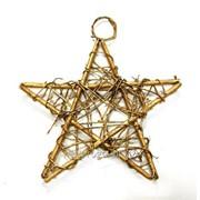 Звезда из лозы подвесная К03214, 14 см фото
