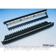 "Патч-панель 19"" 24xRJ-45 UTP, кат. 5e, dual type, с задним организатором, EPLB-24D00-RM фото"