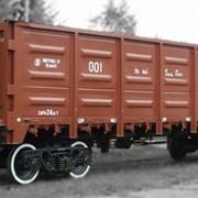 Полувагон грузовой железнодорожный фото