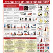 Уголок по пожарной безопасности (р-р 100*100 см ) фото