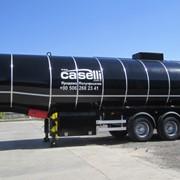 Полуприцеп-цистерна битумовоз Caselli для тёмных нефтепродуктов, стальной фото
