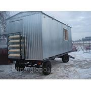 Блок-контейнер на шасси (бытовка на колесах) фото