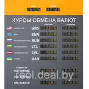 Электронные табло курсов валют. фото