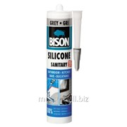 Силикон санитарный серый 280мл Bison Артикул 59.32 фото