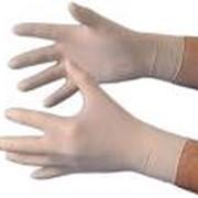 Перчатки смотровые латексные стерильные опудренные фото