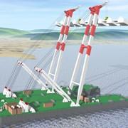 Речной плавучий несамоходный кран проекта 50370 М фото