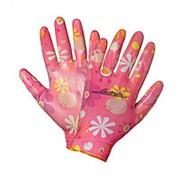Перчатки нейлоновые женские с цельным полиуретановым покрытием ладони AWG-NW-09 фото