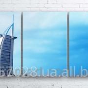 Модульна картина на полотні Дубай. Готель Парус код КМ100180-235-FED фото