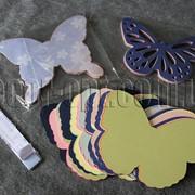 Бабочка(вырубка из дизайнерского картона) 15 см 7443 фото