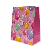 """Пакет подарочный ламинированный """"Шарики на розовом"""", 26х14х33см (MILAND) фото"""