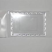 Заготовка акриловая для магнита на холодильник в форме марки прямоугольная фото