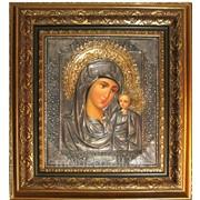Иконы Божией Матери в багетной рамке фото