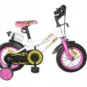 Велосипед двухколёсный 12K127 - White with Pink фото