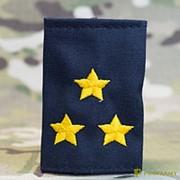 Фальш-погоны Полиция полковник вышитые желтым иссиня-черные МФ-23-13 фото