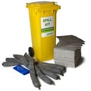 Натуральный мобильный комплекс для ликвидации разлива 100л Natural Ecofibre Main.Spill Kit, абсорбент фото