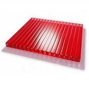 Сотовый поликарбонат 4 мм красный Novattro 2,1x12 м (25,2 кв,м), лист фото