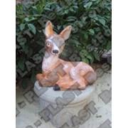 Форма оленя, олень из бетона, декоративный олень садовый фото