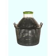 Бутыль-демиджон с широким горлышком и пластиковой крышкой, 20 литров фото