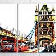 Модульна картина на полотні Лондонський Тауер Брідж код КМ100200(200)-078 фото