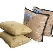 Подушка Верблюжья шерсть натуральная чехол-сатин-жаккард, тик 70х70 фото