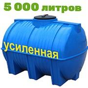 Резервуар для хранения и перевозки биодизеля, питьевой воды 5000 литров, синий, гор фото