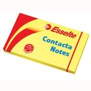 Самоклеящийся блок Esselte Contacta 75х125мм, 100л, желтый фото