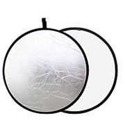 Отражатели света для фотосъемки серебряный/белый 80 см 2126 фото
