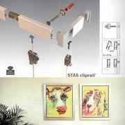 Система галерейной подвески картин, монтаж фото