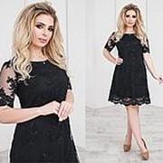 Нарядное платье женское с вышивкой (5 цветов) - чёрный ТК/-21098 фото