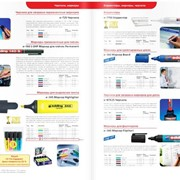 Маркеры, ручки, корректоры, письменные принадлежности для офисов, канцтовары в ассортименте фото