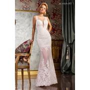 Вечернее платье атласное фото