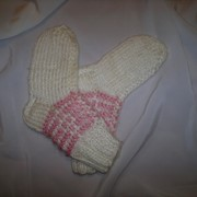 Носки детские белые с розовым фото