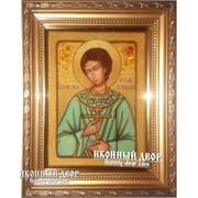 Именная Икона Артемий Веркольский Из Натурального Камня Янтаря Код товара: ОЩар-138 фото
