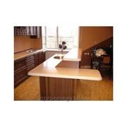 Столешница кухонная из искусственного камня фото