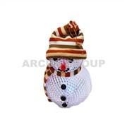 Снеговик маленький пластиковый с подсветкой, 12*7см фото