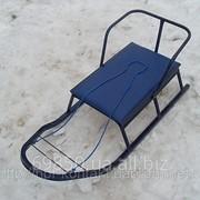Санки детские Вихрь- 2 с мягким сиденьем фото