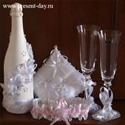 Украшение свадебных и подарочных бутылок фото