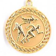 Медаль рельефная Легкая Атлетика золото фото