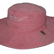 Вельветовая шляпа Kidz Banz розовая фото