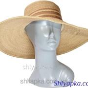 Шляпа мягкая с большими полями коричневая 38/70-1 фото