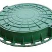 Люк полимерно-композитный легкий зеленый фото