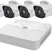 Комплект IP видеонаблюдения на 4 камеры фото