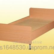 Кровать 1-спальная на металлическом каркасе, с закругленными спинками., 0816 фото