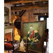 Изготовление картины на холсте в багетной раме 80х120 фото