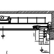 Кран мостовой электрический г/п 5т предназначен для установки в закрытых цехах и выполнения погрузочно-разгрузочных работ. фото