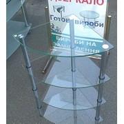 Витрина стеклянная угловая, этажерка стеклянная Киев фото