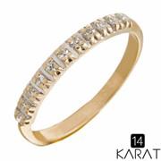 Золотое кольцо с бриллиантами 0,06 карат (Код: 16241) фото