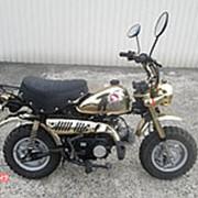 Мопед мокик Honda Monkey рама Z50J Minibike задний багажник пробег 2 т.км золотистый фото